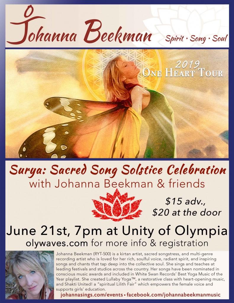 Johanna Poster Unity Olympia Kirtan2